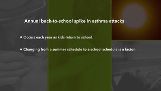 Why do asthma attacks spike this time of year?