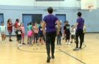 Musical Cast Teaches Youth Aladdin Musical Dance