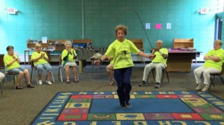 At 96, she still teaches fitness classes