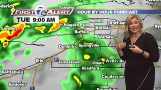 Check Radar   Rain and Showers throughout Tues.