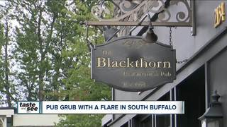 Pub grub with a flair offered at the Blackthorn