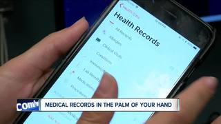 BMG patients accessing medical records on iPhone