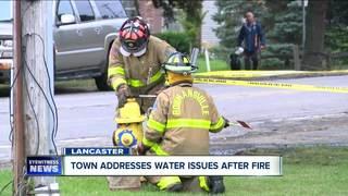 Firefighters met with low water pressure