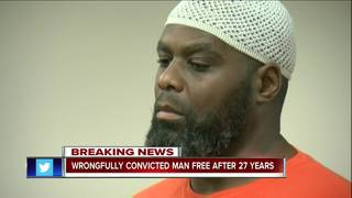 Wrongfully convicted man free after 27 years
