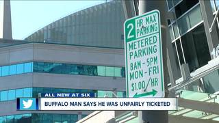 Why did this Buffalo man get a parking ticket?
