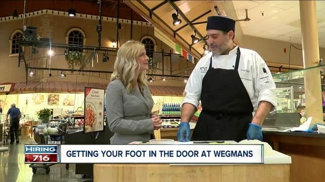 how to get your foot in the door at wegmans
