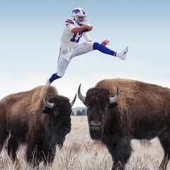'Josh Allen jumping over things' goes viral