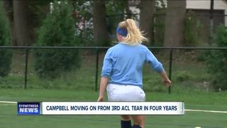 Campbell back after 3rd ACL tear in four years