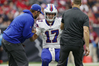 Josh Allen diagnosed with sprained elbow