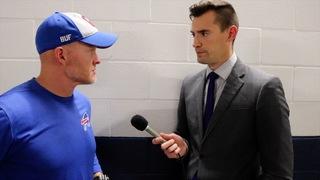 Joe B. talks with Coach McDermott after loss
