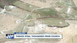Thieves target church and steal thousands