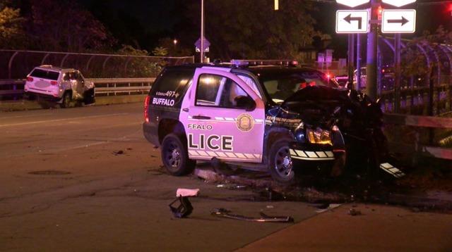 Police car involved in crash in Buffalo