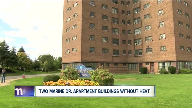 two marine drive apartment buildings are without heat