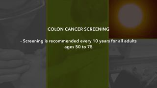 Colon cancer screenings: when and how often?