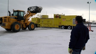 Buffalo airport using new snow melting equipment