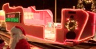 Santa's sleigh drives through North Tonawanda